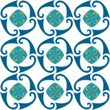 Pattern. Vector pattern blue curls  decor Stock Images