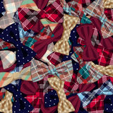 Pattern of vector bow-ties Royalty Free Stock Images