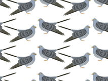 Pattern of vector Cuckoo Royalty Free Stock Photos