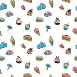 Pattern of vector images of sweets vector illustration