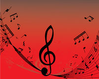Pattern of vector notes. Abstract music background with different notes and lines royalty free illustration