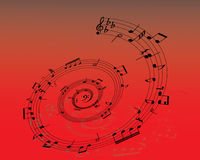 Pattern of vector notes. Abstract music background with different notes and lines vector illustration