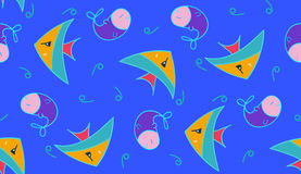 Pattern. Vector seamless pattern with fishes, fully editable eps 8 file with clipping masks and pattern in swatch menu Royalty Free Stock Photo