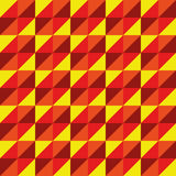 Pattern Vector Seamless Polygon Triangle yellow red Stock Photography