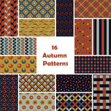 Pattern vector set Royalty Free Stock Photos