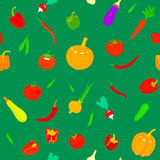 Pattern with vegetables. Stock Image