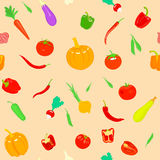 Pattern with vegetables. Royalty Free Stock Images