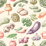 Pattern of the vegetables Stock Photos