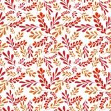 Pattern with vegetative ornament stock illustration