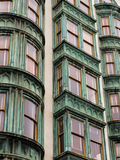 Pattern vertical rows of windows in San Francisco apartment houses Royalty Free Stock Photography