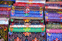 Pattern of Vietnamese silk scarf Stock Photography