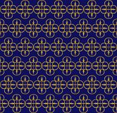 Pattern from vignette. Pattern with vignettes and arrows on a blue background Stock Photo