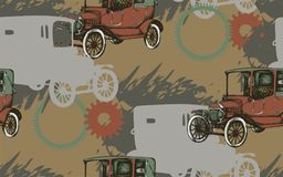 Pattern of vintage car royalty free illustration