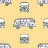 Pattern of Vintage car Royalty Free Stock Images