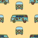 Pattern of Vintage car Royalty Free Stock Photography