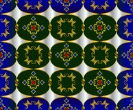 Pattern from vintage figures Royalty Free Stock Photo