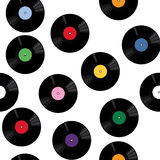 Pattern with vinyl records Royalty Free Stock Photos