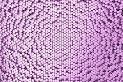 Pattern of violet brushed metal cylinders of different length. Metal sticks. Abstract background. 3D rendering illustration Royalty Free Stock Photos