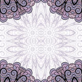 Pattern with violet corners Stock Photography