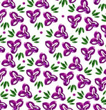 Pattern with violets flowers Stock Image