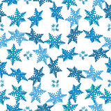 Pattern volumetric snowflakes Royalty Free Stock Image
