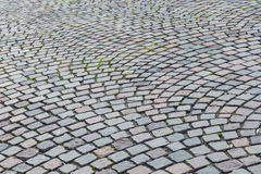 The pattern walkway made of stone as background Stock Images