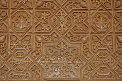 Pattern on the Wall of Alhambra Palace Stock Photo