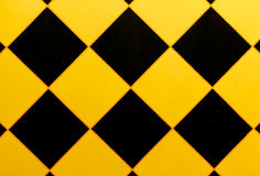 Pattern of the wall with a black triangle Stock Photo