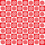 Pattern wallpaper circles Red Stock Photography
