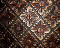 Pattern wallpaper. With dark gold colour Stock Photo