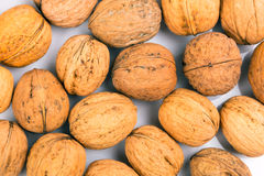 Pattern of walnuts Stock Photography