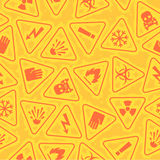 Pattern warning signs of danger Stock Images