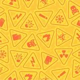 Pattern warning signs of danger. Illustration pattern warning signs of danger, format EPS 8 Stock Images