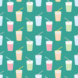 Pattern water and juice. Royalty Free Stock Image
