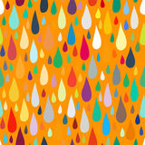 Pattern with water or paint drops. Vector seamless pattern with water or paint drops in multiple bright colors. Fun and positive background with falling water royalty free illustration