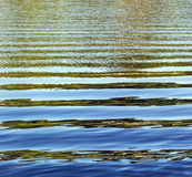 Pattern of water with waves. At the river Royalty Free Stock Photos