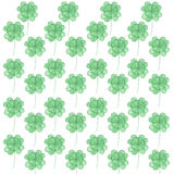 Pattern with watercolor clover. Stock Images