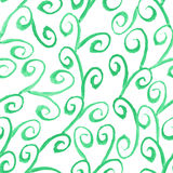 Pattern with watercolor curl elements Royalty Free Stock Images