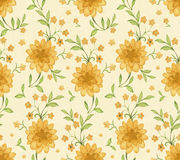 Pattern with watercolor flowers Stock Images
