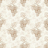 Pattern with watercolor illustration of grapes Royalty Free Stock Photography