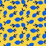 Pattern with watercolor lemons royalty free illustration