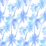 Pattern from watercolor palms vector illustration