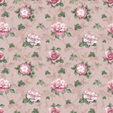 Pattern with watercolor rose illustration royalty free illustration