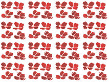 Pattern Watercolor set of red poppy Royalty Free Stock Photo