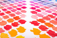 Pattern with watercolours in orange, red, magenta and pink stock photos