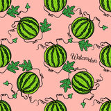 Pattern watermelon royalty free stock photos
