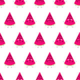 Pattern with watermelon characters stock illustration