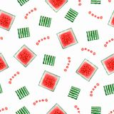 Pattern of watermelon. perfect for wallpaper, festive poster, party invitations,textile, fabric, wrapping, menu, your design royalty free illustration
