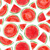 Pattern with watermelon Stock Photo