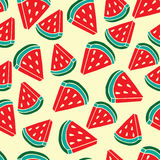 Pattern of watermelon slice background Royalty Free Stock Photography